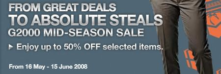 G2000 Mid-Season Sale: Up to 50%