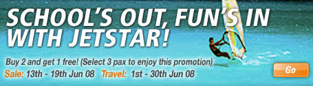 jetstar 2008 june school holiday sale