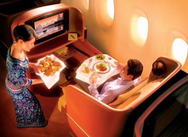 singapore airlines with iPod docks image