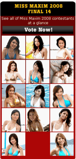 Miss Maxim Singapore 2008