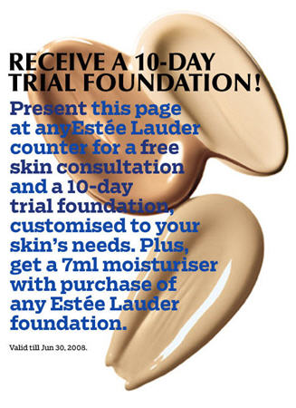 Estee Lauder Foundation Free Trial