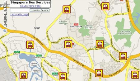 Singapore Bus Services on Google Map
