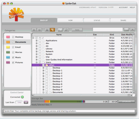 2G FREE Online Backup Software: SpiderOak