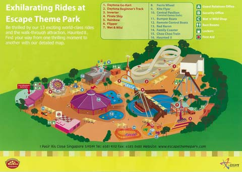 Escape Theme Park Map,