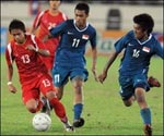 Singapore V.S. Laos: Goalless Draw