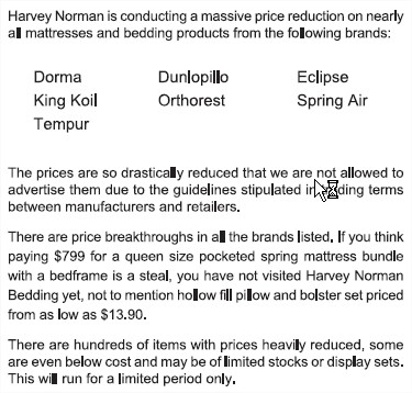 harvey norman notice