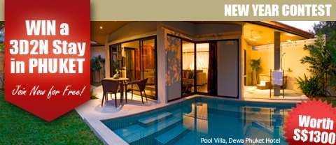 Win Luxurious Getaway for 2 at Dewa Phuket Resort [till Jan 26 11]
