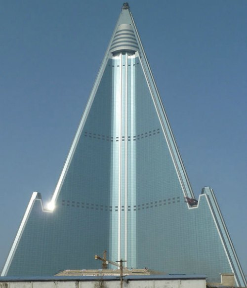 The Ryugyong Hotel under construction