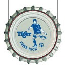 "Sample image of a Tiger Beer ""Free Kick"" crown cap"