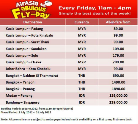 Air Asia Amazing Father's Day deals