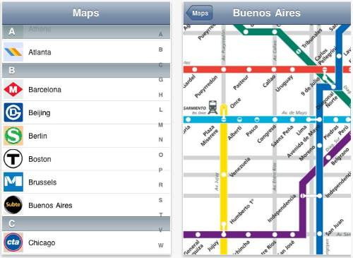 AllSubway for IPhone