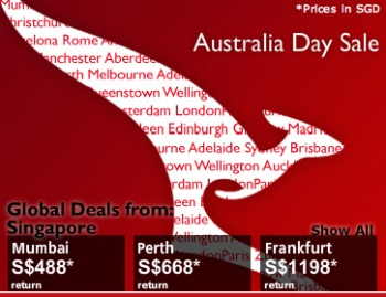 Australia Day Sale from Qantas ends 26 Jan 2011
