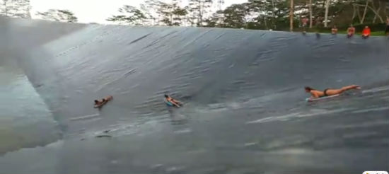 The World's Largest Slip-and-Slide [Video]