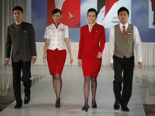 Red: brand heritage colour of the Cathay Pacific uniform