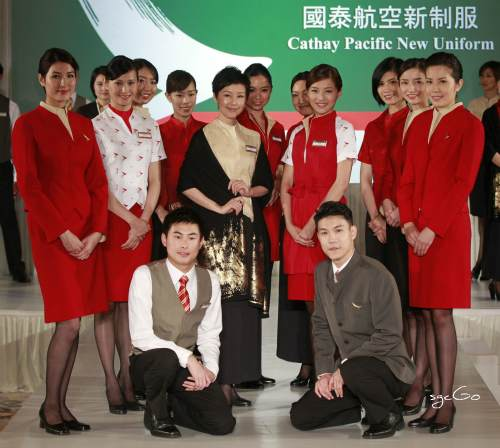 Cabin crew showcase Cathay Pacific's new uniform