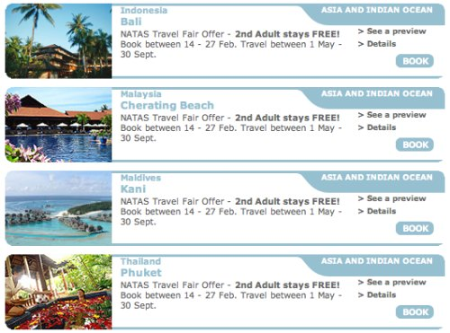 Club Med NATAS Travel Fair 2011 Offer