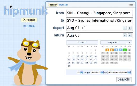 hipmunk: great site for flights and hotel search!