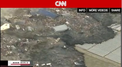 Screenshot: Japan Tsunami Video