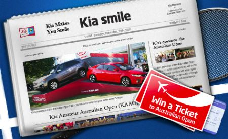 Win an ticket to Australian Open 2011