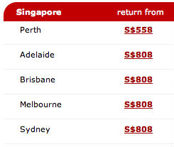 Qantas Chinese New Year Sale 2011