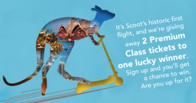 2 FREE Premium Tickets on Scoot to Australia