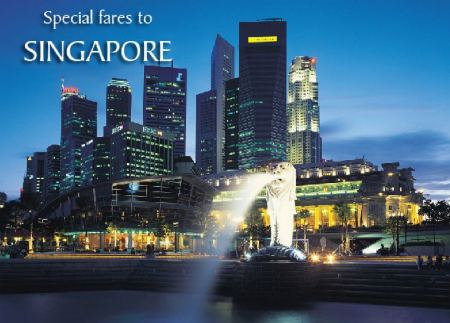 Singapore Airlines Special Fares from India to SG