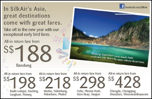 SilkAir 2012 Early Bird Promotion Is On!