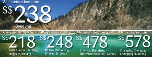 SilkAir Promotion Fares