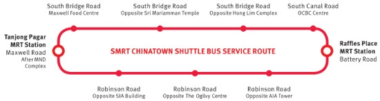 SMRT Shuttle Bus Service Route for CNY 2012