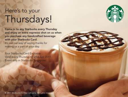 Starbucks Thursday Promotion