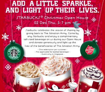 Starbucks Christmas Open House 2010: 2 Dec 5-7pm