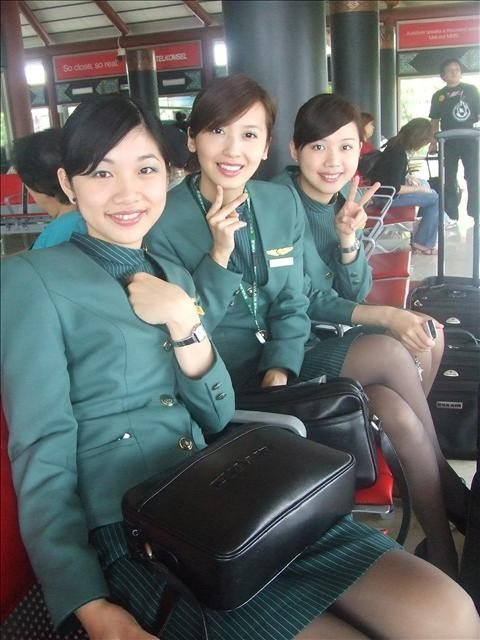 Taiwan Eva Air Flight Attendants