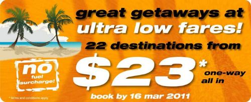 Tiger Airways $23 all-in to 22 destinations!