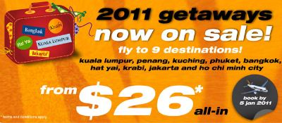 Tiger Airways: 9 hot getaways to start off 2011!