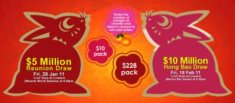Singapore ToTo CNY 2011: $5m Reunion Draw & $10m Hong Bao Draw