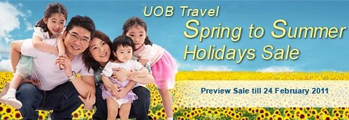UOB Travel&#8217;s NATAS Holidays Sale 2011 Till Feb 24