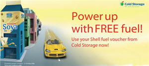 Shop at Cold Storage and get FREE Shell fuel!