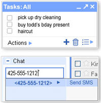 New in Gmail Labs: Tasks, Text Messaging in Chat