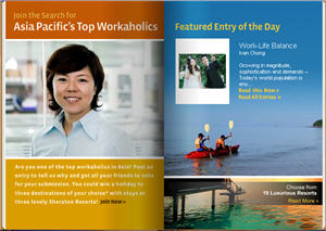 Asia Pacific's Top Workaholics to Win Getaway in Sheraton Resorts