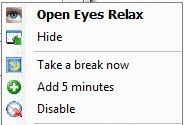 Eyes Relax Reminds You About Rest-time and Save Your Eyesight