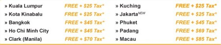 Tiger Airways FREE SEATS: 7-13 May 2009