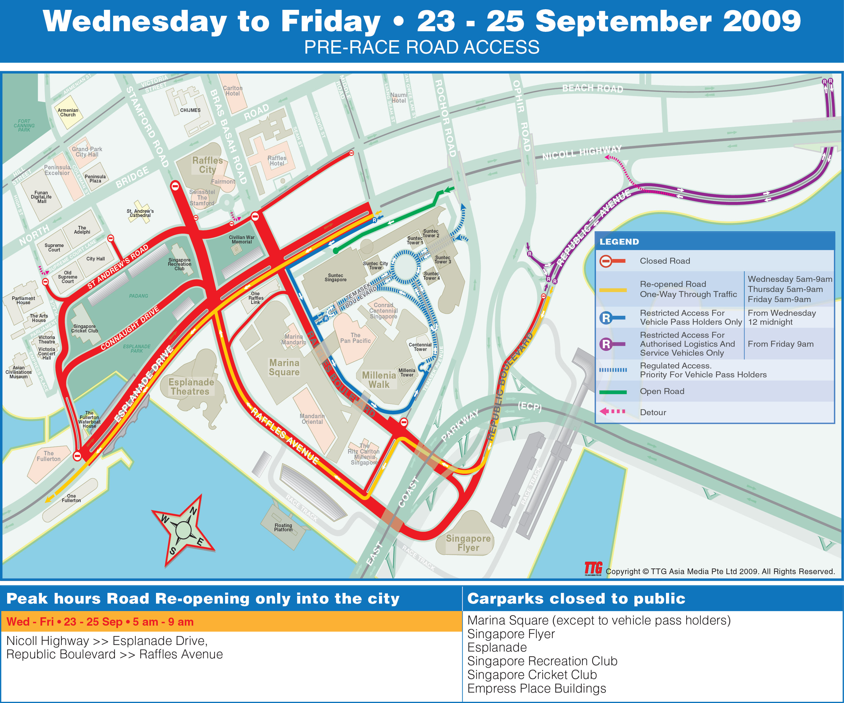 F1 Road Closure From 23 Sep