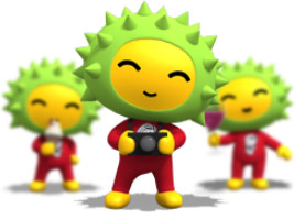 Durian Star (Liu Lian Xiao Xing) is Singapore Expo 2010 Mascot!