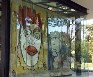 Berlin Wall on display at Bedok Reservoir Park
