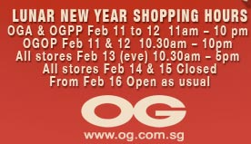OG Celebrates the Lunar New Year with Sale on Feb 16 up to 70% off