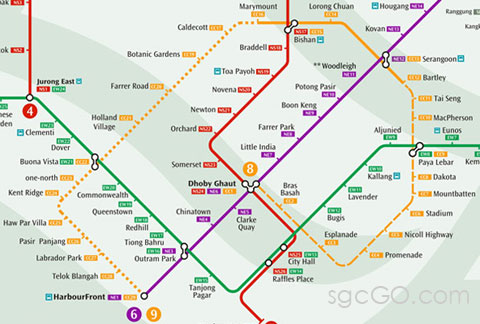Circle Line From Dhoby Ghaut to Bartley  sgcGo