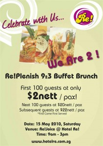 Hotel Re $2 Buffet Promotion