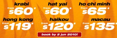 Tiger Airways Vesak Day 2010 Sale