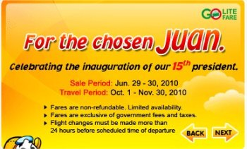 Cebu Pacific Promo Fare 2010