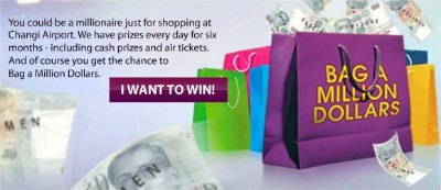 Shop &amp; Dine @ Changi Airport to Win 1 Million Dollars! Starting on June 1, 2010